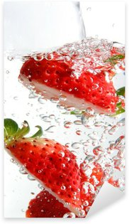 Pixerstick Sticker Koolzuurhoudende aardbeien