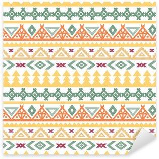 Sticker Pixerstick L'art tribal boho ethnique seamless