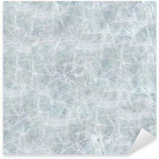 Sticker Pixerstick La couverture de glace de texture transparente.
