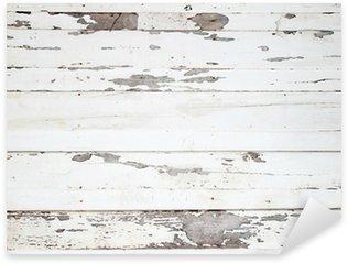 Sticker Pixerstick La texture du bois blanc avec des motifs naturels