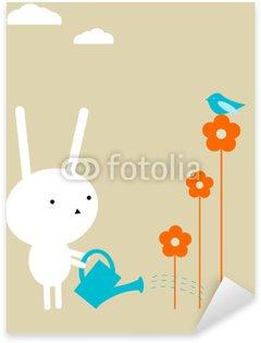 Sticker Pixerstick Lapin de jardin
