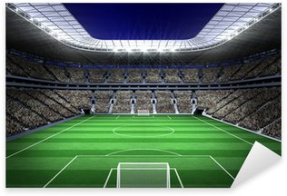 Large football stadium with lights Sticker - Pixerstick