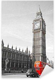 Sticker Pixerstick Le Big Ben, la Chambre du Parlement et le pont de Westminster