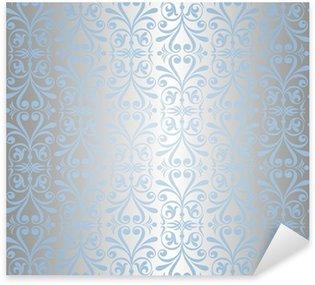 Sticker Pixerstick Le fond d'écran de bleu et d'argent Nouvel An