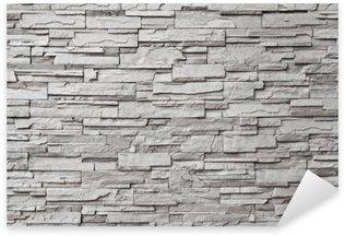Sticker Pixerstick Le mur de pierre grise moderne