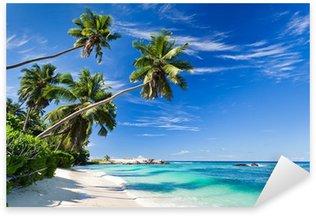 Sticker Pixerstick Le paradis à la plage
