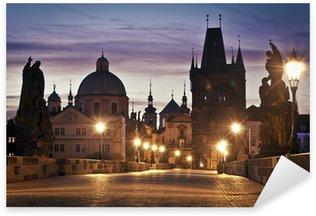 Sticker Pixerstick Le pont Charles à Prague