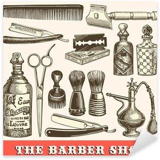 Sticker Pixerstick Le salon de coiffure