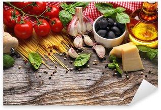 Sticker Pixerstick Légumes, herbes et épices pour la cuisine italienne