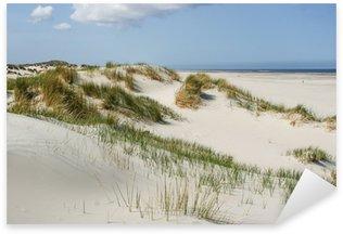 Sticker Pixerstick Les dunes de sable de la côte des Pays-Bas