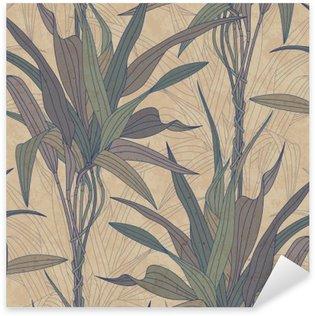 Sticker Pixerstick Les feuilles sur un fond vieux papier