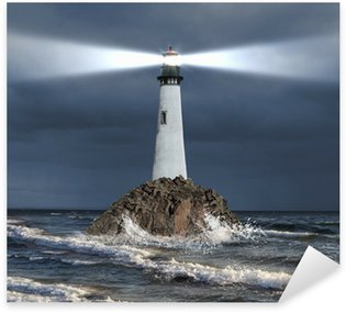 Sticker - Pixerstick Lighthouse with a beam of light
