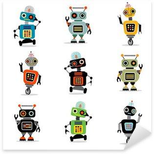 little robots set 3 Sticker - Pixerstick