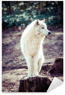 Sticker Pixerstick Loup blanc de l'Arctique