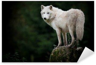Sticker - Pixerstick loup hurler mort