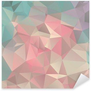 Pixerstick Sticker Low Poly driehoekige trendy achtergrond van de kunst