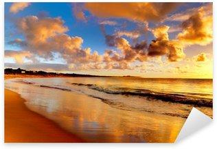 Sticker Pixerstick Magnifique coucher de soleil sur la plage