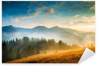 Sticker Pixerstick Magnifique paysage de montagne