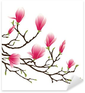 magnolia blossom Sticker - Pixerstick