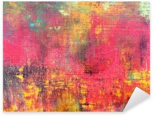 Sticker Pixerstick Main abstrait coloré toile peinte fond texture