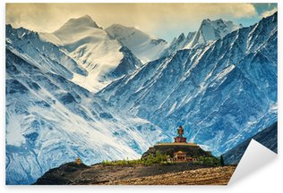 Sticker Pixerstick Maitreya au monastère de disquette, Ladakh, en Inde