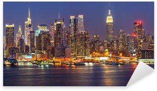 Pixerstick Sticker Manhattan bij nacht