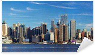 Sticker Pixerstick Manhattan skyline panorama, New York City