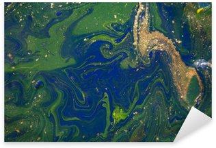 Sticker Pixerstick Marbré abstrait bleu. motif de marbre liquide. Marbling acrylique texture