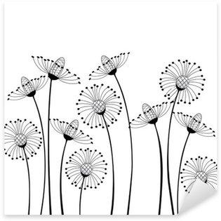 Sticker Pixerstick Meadow & fleurs