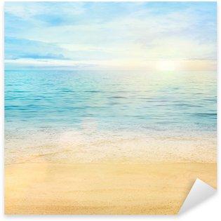 Sticker Pixerstick Mer et sable de fond