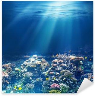 Sticker Pixerstick Mer ou l'océan récif corail sous-marin
