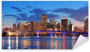 Sticker - Pixerstick Miami night scene