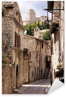 Pixerstick Sticker Middeleeuwse Italiaanse straat