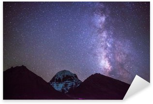 Sticker - Pixerstick Milkyway on the Mt.Kailash in Tibet