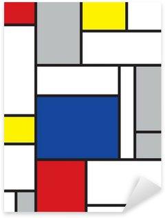 Pixerstick Sticker Mondriaan geïnspireerde kunst