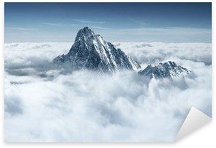 Sticker Pixerstick Montagnes dans les nuages