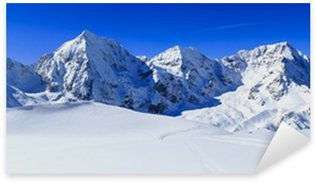 Sticker Pixerstick Montagnes de l'hiver, panorama - Alpes italiennes