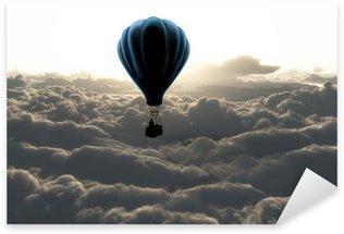 Sticker Pixerstick Montgolfière dans le ciel