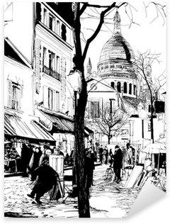 Pixerstick Sticker Montmartre in de winter