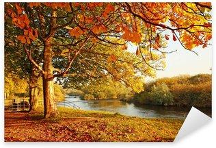 Pixerstick Sticker Mooie Herfst in het park