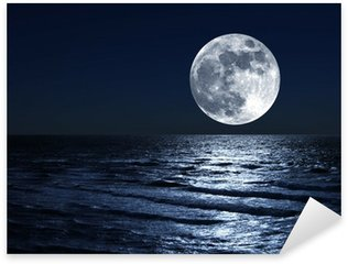 Pixerstick for All Surfaces moon over sea