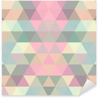 Sticker - Pixerstick Mosaic triangle background. Geometric background