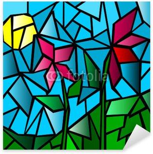 Sticker Pixerstick Mosaico floreale