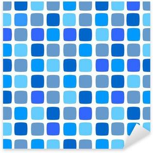 Sticker Pixerstick Mosaïque bleue