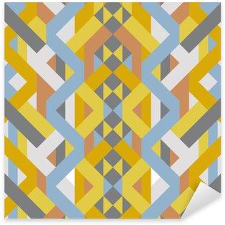 Sticker Pixerstick Motif abstrait de style déco rétro géométrique de l'art du pastel