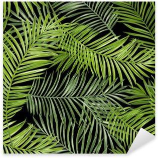 Sticker Pixerstick Motif continu. Palm Tropical Leaves Background. Vector Background
