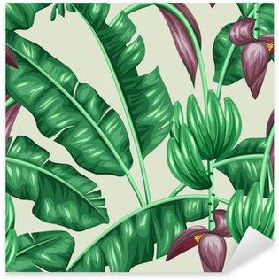 Sticker Pixerstick Motif de feuille de banane verte