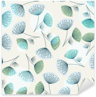 Sticker Pixerstick Motif de pissenlit transparente dans des couleurs à la mode