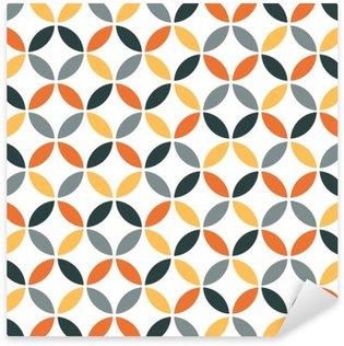 Sticker Pixerstick Motif géométrique orange Retro Seamless