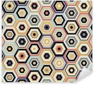 Sticker Pixerstick Motif hexagonal transparente